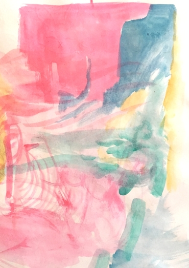 abstract watercolours, sketchbook.