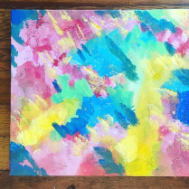 your sparks, acrylic on canvas, victoria bc, 2018