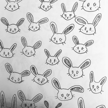 bunnies! ink pen on paper, victoria bc. 2018